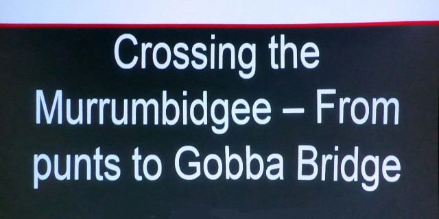 Crossing the Murrumbidge CSU