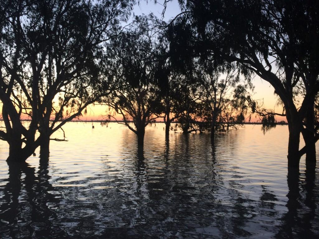 Lake Urana in flood in 2016
