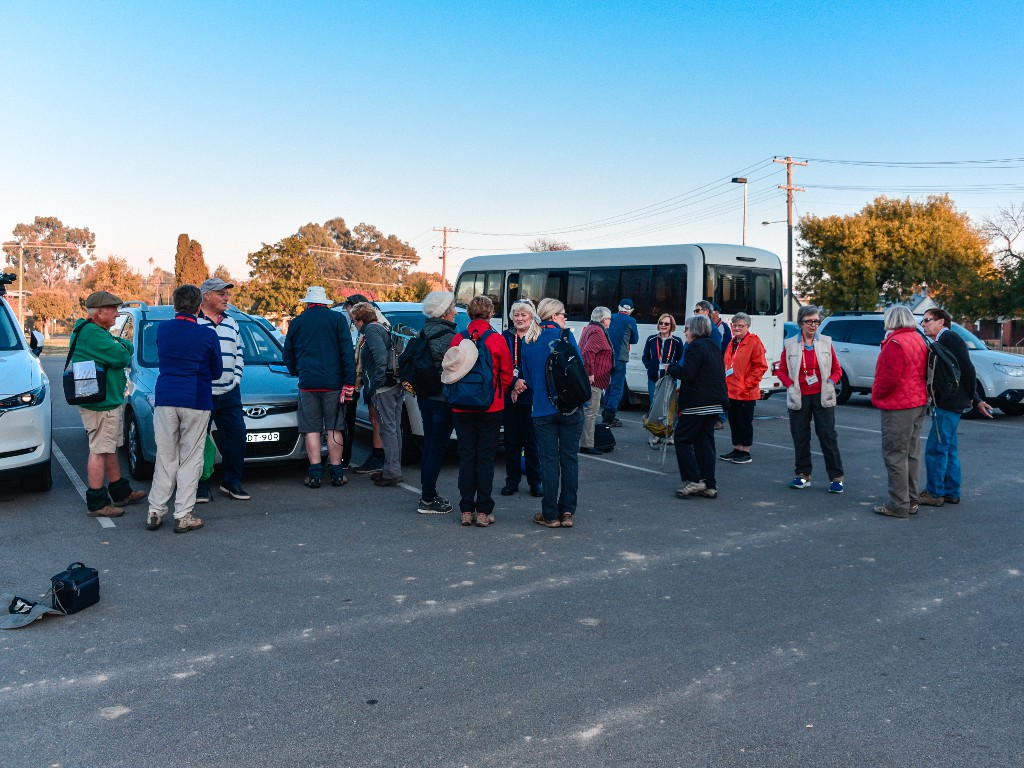 Gathering at the bus
