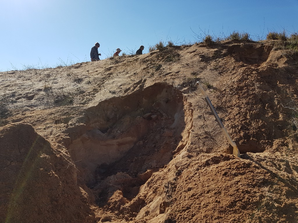 Sandpit similar to where Aboriginal Woman was Discovered